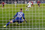 01.12.2019, Borussia Park , Moenchengladbach, GER, 1. FBL,  Borussia Moenchengladbach vs. SC Freiburg,<br />  <br /> DFL regulations prohibit any use of photographs as image sequences and/or quasi-video<br /> <br /> im Bild / picture shows: <br /> 11 Meter durch Breel Embolo (Gladbach #36),  <br /> <br /> Foto © nordphoto / Meuter