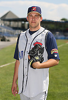 2007:  Brian Tracy of the State College Spikes poses for a photo prior to a game vs. the Batavia Muckdogs in New York-Penn League baseball action.  Photo By Mike Janes/Four Seam Images