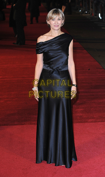 "SANDRA HEBRON .Attending The European Premiere of ""127 Hours"" during the closing gala of the 54th BFI London Film Festival, Odeon Leicester Square, London..28th October 2010.LFF full length off the shoulder long maxi black dress bow silk satin .CAP/BEL.©Tom Belcher/Capital Pictures."