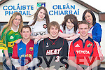 Students from Castleisland Community College who held a jersey day last Tuesday to help raise funds for former student Christine Fleming humanitarian trip to India front row l-r: Neil Horan, Paudie Fleming, Dan Casey all Castleisland. Back row: Claire Hickey Knocknagoshel, Miriam O'Sullivan Scartaglen, Katie Ahern Listowel and Niamh McSweeney Currow     Copyright Kerry's Eye 2008