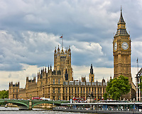 The Palace of Westminster viewed from the Thames