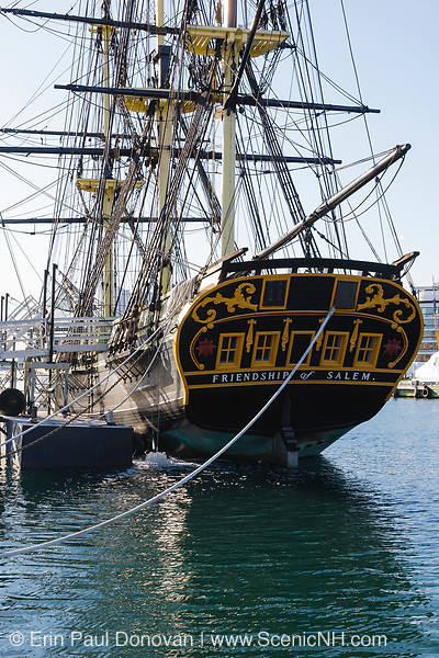 The Friendship of Salem Tall Ship, which is a replica of a 1797 East Indiaman ship. Located at Salem Maritime National Historic Site, which was the first National Historic Site in the National Park System. Located in Salem, Massachusetts USA