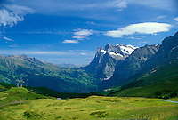 Grindelwald Valley and Weterhorn Mountain, Klien Sheidegg, Swiss Alps, Switzerland