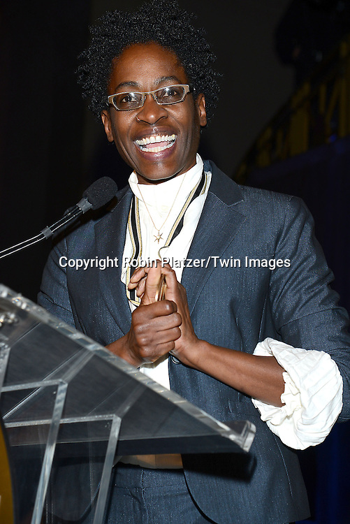 Young People's Literature winner  Jacqueline Woodson at the 65th Annual National Book Awards on November 19, 2014 at Cipriani Wall Street in New York City. <br /> <br /> photo by Robin Platzer/Twin Images<br />  <br /> phone number 212-935-0770