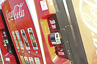 A Coca cola machine is pictured at Lee Premium Outlets in Lee (MA), Tuesday October 1, 2013.