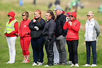 Some of the crowds watching on during the final round at the Irish Woman's Open Stroke Play Championship, Co. Louth Golf Club, Louth, Ireland. 12/05/2019.<br /> Picture Fran Caffrey / Golffile.ie<br /> <br /> All photo usage must carry mandatory copyright credit (&copy; Golffile | Fran Caffrey)