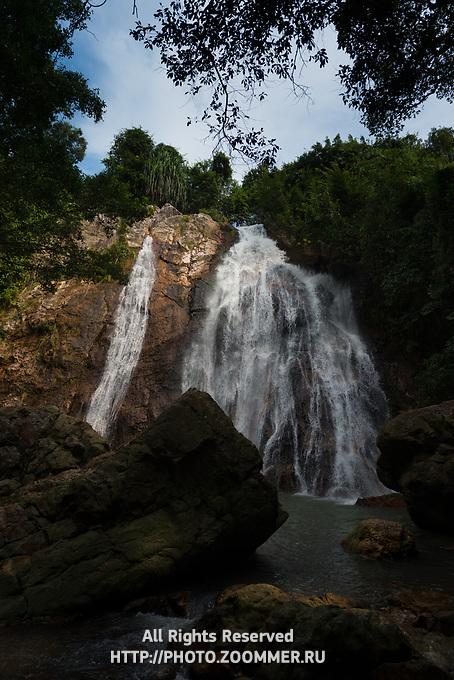 Namuang waterfall in Koh Samui island, Thailand