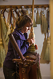 CANADA, Vancouver, British Columbia, Sarah Schwieger makes a broom by hand at the Broom Company on Granville Island