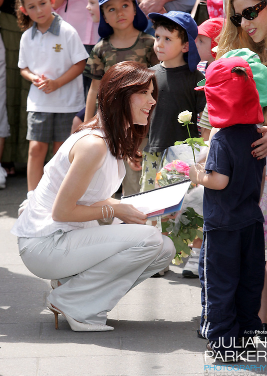 Crown Princess Mary of Denmark visits the Victor Chang Cardiac Research Institute in Darlighurst, Sydney, during a 2-week visit to Australia with Crown Prince Frederik..