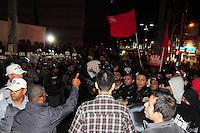 ***FOTO DE ARQUIVO***29.04.2014 - S&Atilde;O PAULO,SP,25.07.2014 - PRIS&Atilde;O DE MANIFESTANTE - O manifestante e professor Jefte Rodrigues durante a manifesta&ccedil;&atilde;o:N&atilde;o vai ter Copa.Rua Tuiuti, Shoping Metr&ocirc; Tatuap&eacute;,regi&atilde;o Leste da cidade de S&atilde;o Paulo<br /> (Kevin David/Brazil Photo Press)