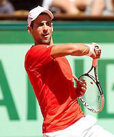 Novak Djokovic (SRB) (1)..Tennis - Grand Slam - French Open- Roland Garros - Paris - Sat May 26th 2012..© AMN Images, 30, Cleveland Street, London, W1T 4JD.Tel - +44 20 7907 6387.mfrey@advantagemedianet.com.www.amnimages.photoshelter.com.www.advantagemedianet.com.www.tennishead.net