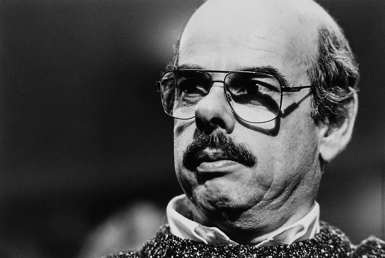 Close-up of Rep. Henry Waxman, D-Calif., in March 1991. (Photo by Maureen Keating/CQ Roll Call)