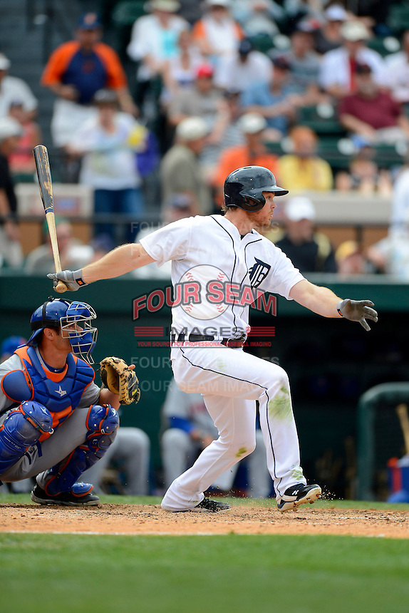 Detroit Tigers outfielder Brennan Boesch #26 during a Spring Training game against the New York Mets at Joker Marchant Stadium on March 11, 2013 in Lakeland, Florida.  New York defeated Detroit 11-0.  (Mike Janes/Four Seam Images)