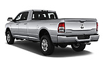 Car pictures of rear three quarter view of a 2019 Ram 3500 Big Horn 4 Door Pick Up angular rear
