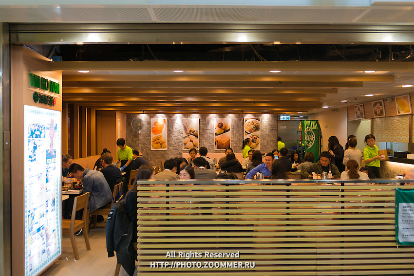 People in Tim Ho Wan, the first Michelin star fast food restaurant in Hong Kong