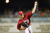 Starting pitcher Taylor Wolfe #27 of the Alabama Crimson Tide in action against the Auburn Tigers at Riverwalk Park on March 15, 2011 in Montgomery, Alabama.  Photo by Brian Westerholt / Four Seam Images