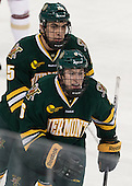 Yvan Pattyn (UVM - 15), Colin Markison (UVM - 6) - The Boston College Eagles defeated the University of Vermont Catamounts 4-1 on Friday, February 1, 2013, at Kelley Rink in Conte Forum in Chestnut Hill, Massachusetts.