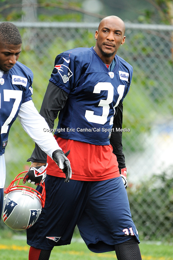 August 3, 2013 - Foxborough, Massachusetts, U.S. - New England Patriots corner back Aqib Talib (31) walks onto the practice field at the New England Patriots training camp at Gillette Stadium in Foxborough Massachusetts.   Eric Canha/CSM