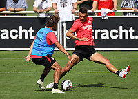 Chico Geraldes (Eintracht Frankfurt) und Danny Blum (Eintracht Frankfurt) - 08.08.2018: Eintracht Frankfurt Training, Commerzbank Arena<br /> <br /> DISCLAIMER: <br /> DFL regulations prohibit any use of photographs as image sequences and/or quasi-video.