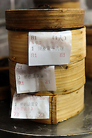Steamers in Tim Ho Wan the cheapest Michelin starred restaurant in the world, Hong Kong..17-Jul-11..Photo by Richard Jones......