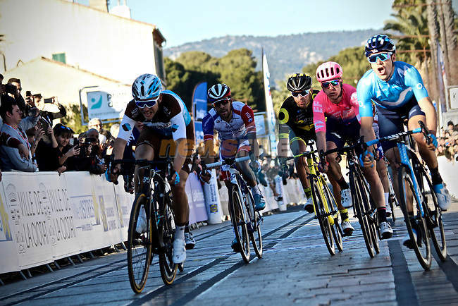 Eduard Prades (ESP) Movistar Team's new signing wins Stage 2 of the 2019 Tour de La Provence, running 195.6km from Istres to La Ciotat, France.<br /> Picture: SHIFT Active Media | Cyclefile<br /> <br /> <br /> All photos usage must carry mandatory copyright credit (© Cyclefile | SHIFT Active Media)