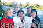 CHECK CAP WITH OWEN.ROUNDABOUT: Campaigners for a roundabout at Camp Junction on the N86 with signatures of support, l-r: Brigid O'Connor, Jim Wilson, Mary Wilson, Mike O'Neill, Ruth Bowler.   Copyright Kerry's Eye 2008