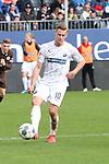 Julius Biada (Nr.10, SV Sandhausen) am Ball  beim Spiel in der 2. Bundesliga, SV Sandhausen - FC St. Pauli.<br /> <br /> Foto © PIX-Sportfotos *** Foto ist honorarpflichtig! *** Auf Anfrage in hoeherer Qualitaet/Aufloesung. Belegexemplar erbeten. Veroeffentlichung ausschliesslich fuer journalistisch-publizistische Zwecke. For editorial use only. For editorial use only. DFL regulations prohibit any use of photographs as image sequences and/or quasi-video.