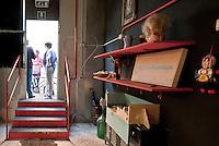 I locali della Vicaria durante il workshop di Emma Dante.<br /> The rooms of Vicaria during the workshop by Emma Dante
