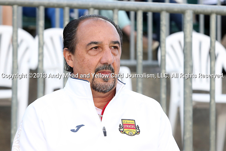 20 April 2013: Fort Lauderdale goalkeeper coach Ricardo Lopes (BRA). The Carolina RailHawks played the Fort Lauderdale Strikers at WakeMed Stadium in Cary, North Carolina in a North American Soccer League Spring 2013 Season regular season game.