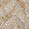 Antiquera, a hand-cut stone mosaic, shown in honed Lavigne, is part of the Miraflores Collection by Paul Schatz for New Ravenna.<br />