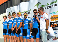 The Sign Factory team (New Zealand). The opening ceremony of the NZ Cycle Classic UCI Oceania Tour at Mitre 10 Mega in Masterton, New Zealand on Tuesday, 16 January 2018. Photo: Dave Lintott / lintottphoto.co.nz