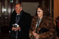 TEATRO GRANDE CERIMONIA 11O° ANNIVERSARIO AIB NELLA FOTO GIUSEPPE SOFFIANTINI CON LA MOGLIE ECONOMIA BRESCIA 16/12/2007 FOTO MATTEO BIATTA