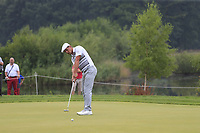 Bryson DeChambeau (USA) putts on the 12th green during Saturday's Round 3 of the Porsche European Open 2018 held at Green Eagle Golf Courses, Hamburg Germany. 28th July 2018.<br /> Picture: Eoin Clarke | Golffile<br /> <br /> <br /> All photos usage must carry mandatory copyright credit (&copy; Golffile | Eoin Clarke)