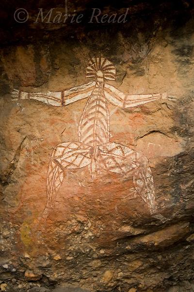Aboriginal rock art portraying Nabulwinjbulwinj, Nourlangie Rock, Kakadu National Park, Northern Territory, Australia