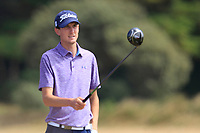 Tiarnan McLarnon (Massereene) on the 12th tee during Round 2 - Strokeplay of the North of Ireland Championship at Royal Portrush Golf Club, Portrush, Co. Antrim on Tuesday 10th July 2018.<br /> Picture:  Thos Caffrey / Golffile