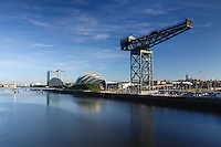The Scottish Exhibition and Conference Centre (SECC) also known as The Armadillo, the Finnieston Crane and the River Clyde Pacific Quay, Glasgow<br /> <br /> Copyright www.scottishhorizons.co.uk/Keith Fergus 2011 All Rights Reserved