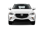 Car photography straight front view of a 2016 Mazda CX3 Skydrive 5 Door Suv Front View