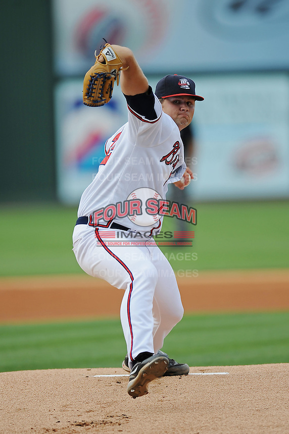 Rome Braves Chris Masters South Atlantic League All Star Game at Fluor Field in Greenville, South Carolina June 22, 2010.   The game ended in a 5-5 tie.  Photo By Tony Farlow/Four Seam Images