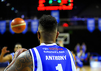 Ben Anthony passes during the national basketball league match between Wellington Saints and Taranaki Mountainairs at TSB Bank Arena in Wellington, New Zealand on Friday, 12 May 2017. Photo: Dave Lintott / lintottphoto.co.nz