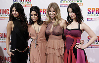 "Da sinistra: le attrici statunitensi Selena Gomez, Vanessa Hudgens, Ashley Benson e Rachel Korine posano sul tappeto rosso dell'anteprima del film ""Spring Breakers - Una vacanza da sballo""  a Roma, 22 febbraio 2013..From left: U.S. actresses Selena Gomez, Vanessa Hudgens, Ashley Benson e Rachel Korine pose on the red carpet of the movie ""Spring Breakers"" in Rome, 22 February 2013..UPDATE IMAGES PRESS/Isabella Bonotto."