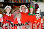 Andrea Rennie Muckross, Susan O'Donoghue and Jack Hallissey Fossa who met Santa Claus in Scotts Hotel before the Killarney parade on Friday night....