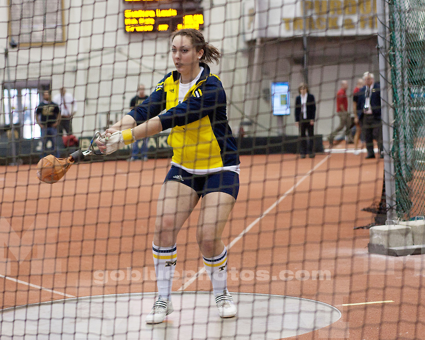 University of Michigan women's track & field in competition at the 2011 Big Ten Indoor Championships hosted by Purdue University in West Lafayette, IN, on February 27, 2011.