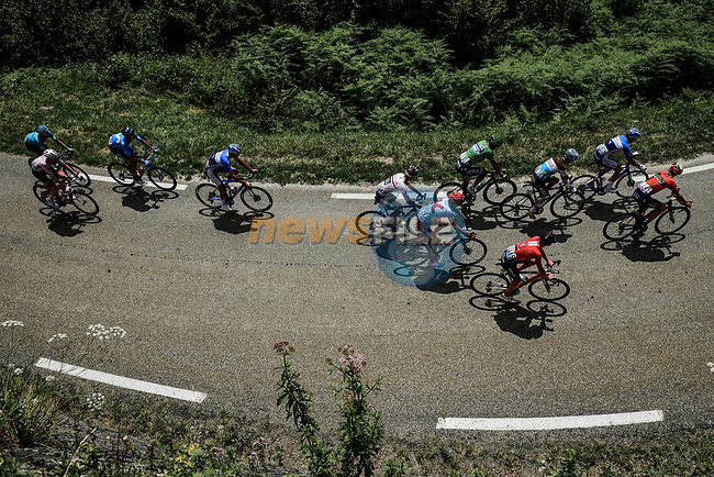 The early breakaway including Green Jersey Peter Sagan (SVK) Bora-Hansgrohe, Vincenzo Nibali (ITA) Bahrain-Merida and Ilnur Zakarin (RUS) Katusha-Alpecin climb the Col du Soulor during Stage 14 of the 2019 Tour de France running 117.5km from Tarbes to Tourmalet Bareges, France. 20th July 2019.<br /> Picture: ASO/Pauline Ballet | Cyclefile<br /> All photos usage must carry mandatory copyright credit (© Cyclefile | ASO/Pauline Ballet)
