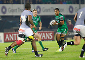 9th September 2017, Galway Sportsground, Galway, Ireland; Guinness Pro14 Rugby, Connacht versus Southern Kings; Bundee Aki with the ball for Connacht