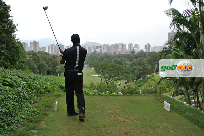 Michael Campbell (NZL) on the 3rd tee during Round 3 of the UBS Hong Kong Open 2012, Hong Kong Golf Club, Fanling, Hong Kong. 17/11/12...(Photo Jenny Matthews/www.golffile.ie)
