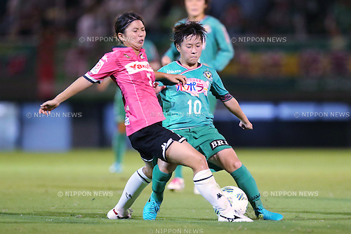 (L-R) <br /> Miho Kamogawa (Jef Ladies), <br /> Yuka Momiki (Beleza), <br /> SEPTEMBER 3, 2016 - Football / Soccer : <br /> Plenus Nadeshiko League Cup 2016 Division 1 Final match <br /> between NTV Beleza 4-0 Jef Chiba Ladies <br /> at Ajinomoto Field Nishigaoka in Tokyo, Japan. <br /> (Photo by AFLO SPORT)