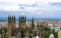 Edinburgh: Looking NE to New City; in the foreground, Gothic Towers of New College, 1846. Photo '87.