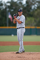 Detroit Tigers pitcher Tom de Blok (53) gets ready to deliver a pitch during an Instructional League game against the Pittsburgh Pirates October 6, 2017 at Pirate City in Bradenton, Florida.  (Mike Janes/Four Seam Images)