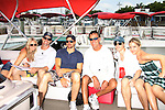 Terri Conn, Austin Peck, Josh Kelly, Ken Gilbert, Eddie & Kristen Alderson - Celebrities take a break and enjoy themselves on the pontoon boat - SWSL Soapfest Charity Weekend May 14 & 15, 2011 benefitting several children's charities including the Eimerman Center providing educational & outfeach services for children for autism. see www.autismspeaks.org. (Photo by Sue Coflin/Max Photos)