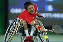 Shingo Kunieda &amp; Satoshi Saida (JPN),<br /> SEPTEMBER 13, 2016 - Wheelchair Tennis : <br /> Men's Doubles Semi-Final<br /> at Olympic Tennis Centre<br /> during the Rio 2016 Paralympic Games in Rio de Janeiro, Brazil.<br /> (Photo by Shingo Ito/AFLO)